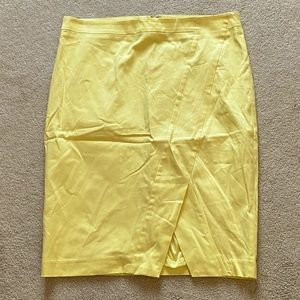 NWT Pale Yellow Pencil Skirt